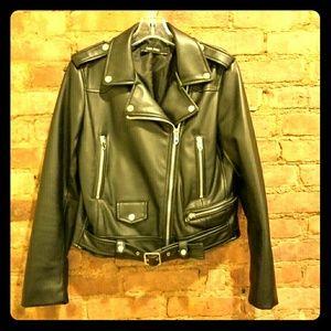 Zara Faux Leather Motor Jacket.